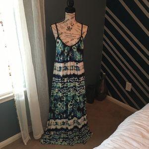 Gibson Latimer Women's Tie Dye Maxi Dress